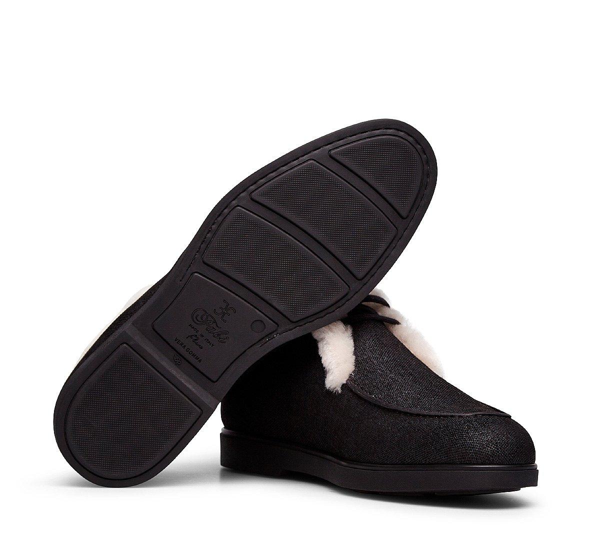Ботинки-дезерты из принтованной кожи с джинсовым эффектом