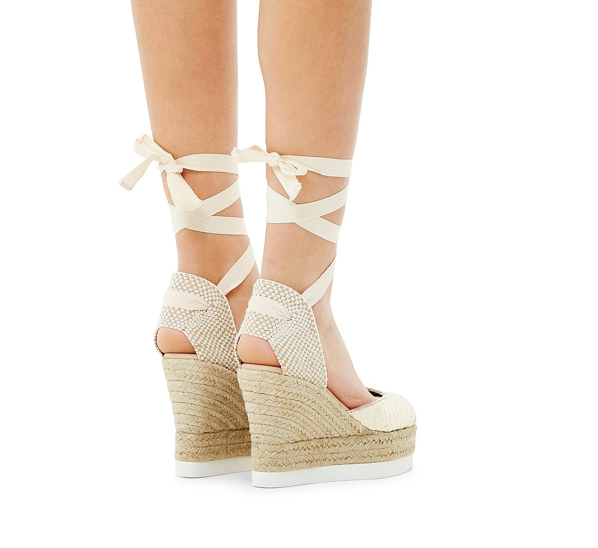 Calfskin sandals with laminated print