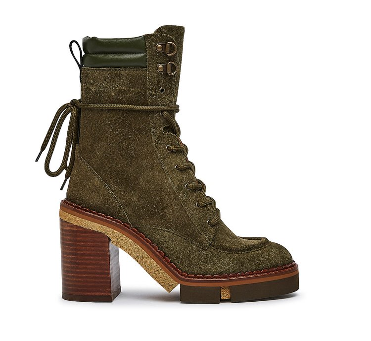 Ankle boots in ultra-soft suede