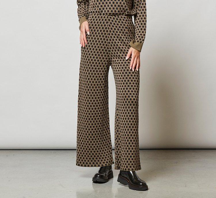 Wool palazzo trousers