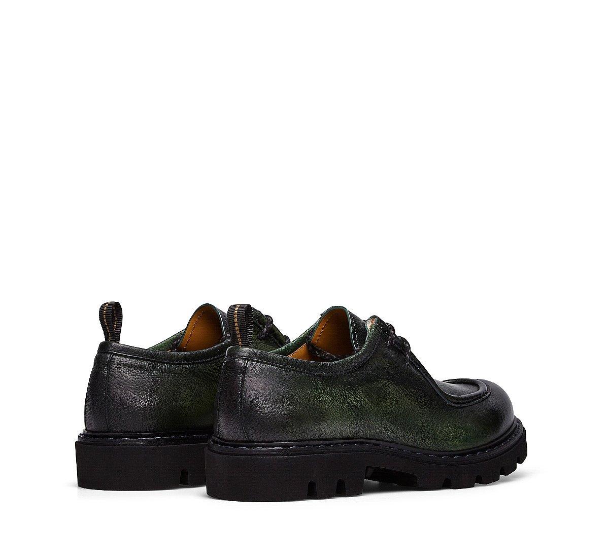Туфли на шнуровке из оленьей кожи