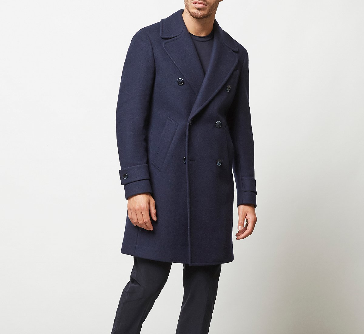 Cappotto doppio petto in lana