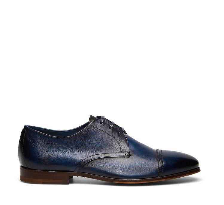 Туфли-дерби из ценной телячьей кожи, состаренной вручную