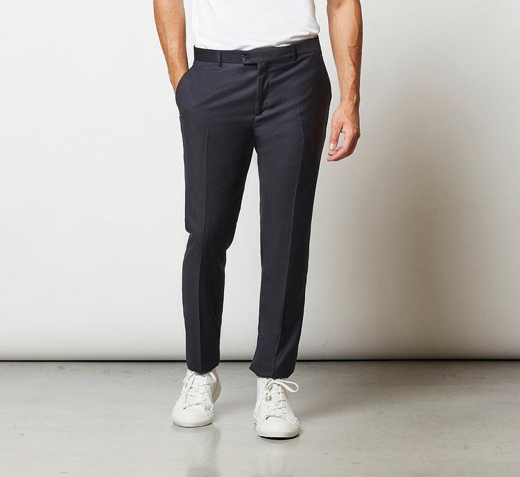 Pantalone completo abbinato in pregiata lana vergine