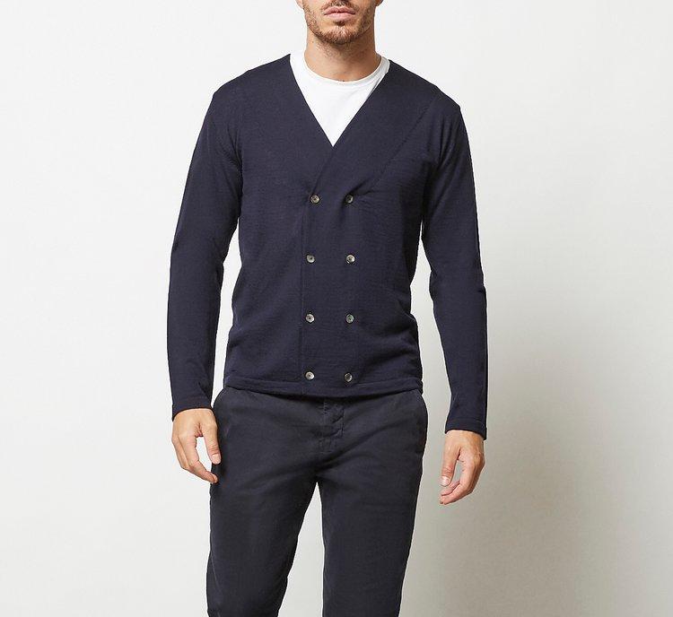 Maglioncino doppio petto in lana