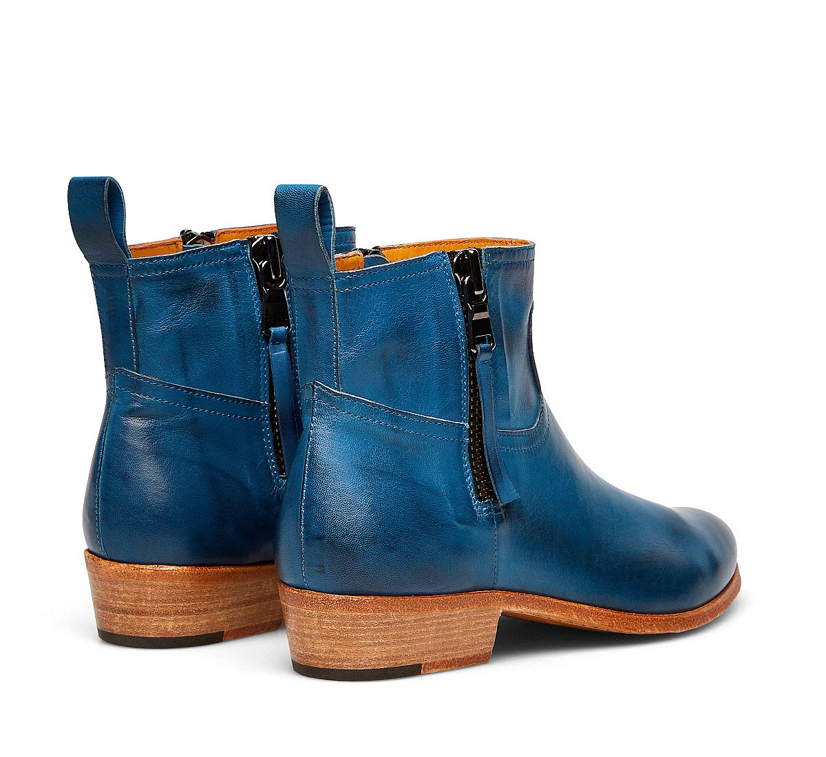 Barracuda cowboy boots in vegetable nappa