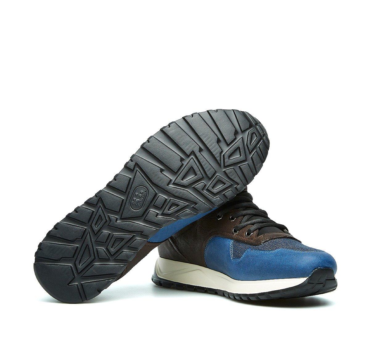 Barracuda sneaker in calfskin and fabric