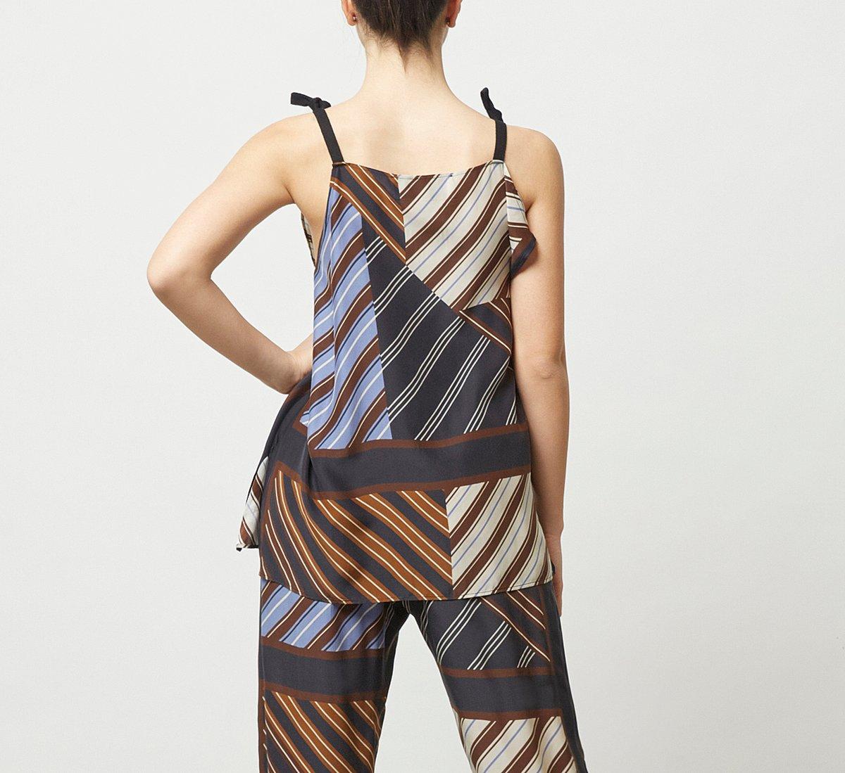 Oversized fabric vest