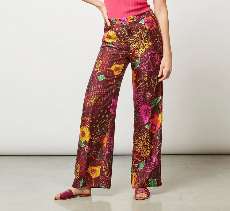 Patterned palazzo trousers