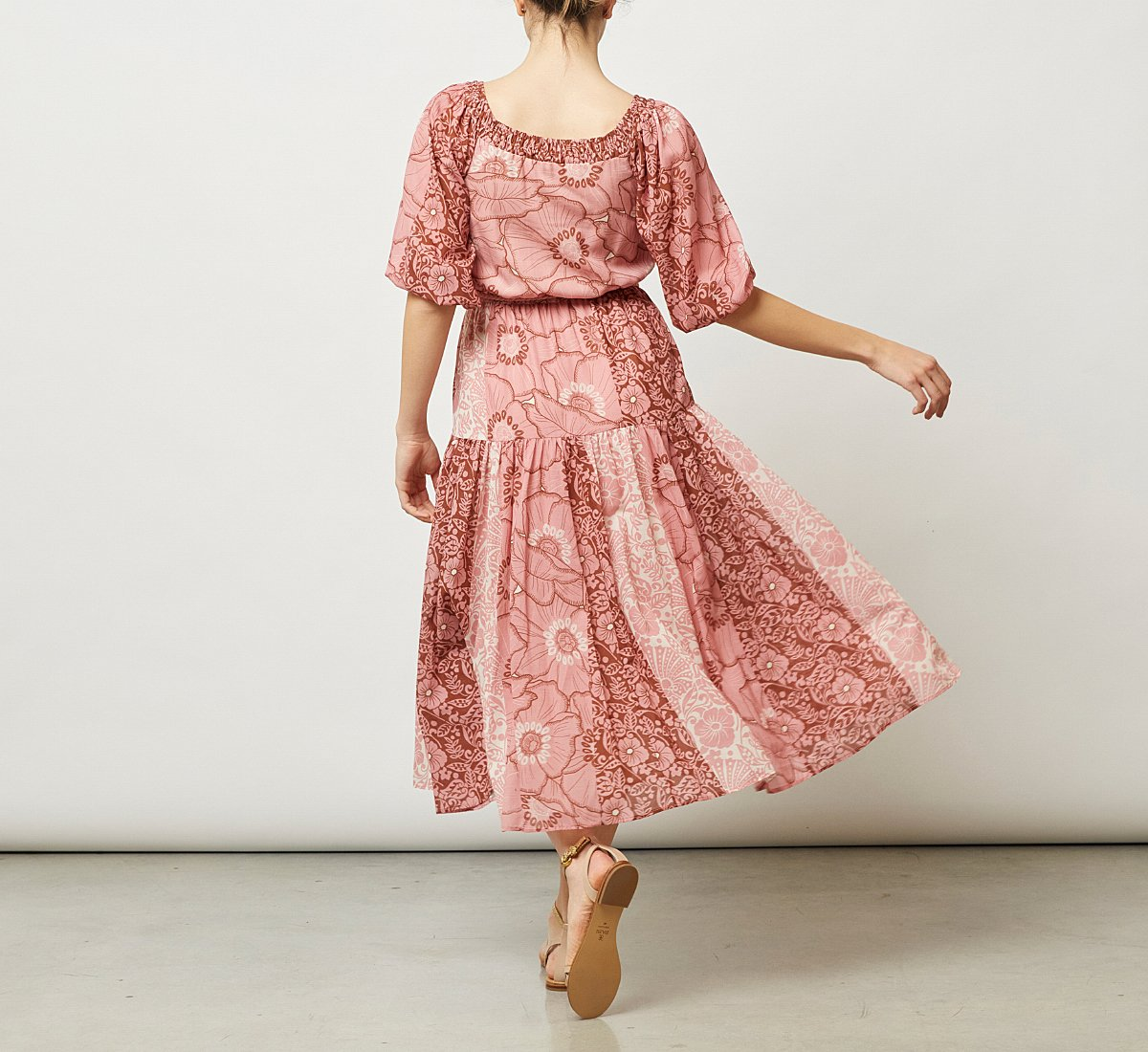 Light fabric dress
