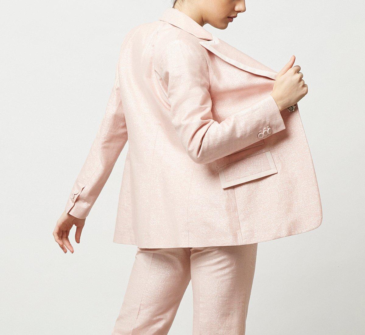 Seersucker fabric jacket
