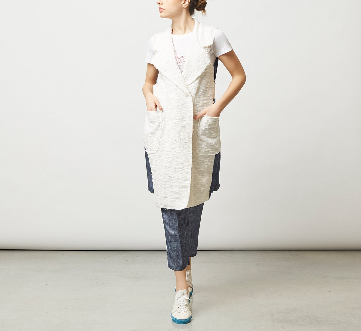 Denim-style fabric jacket