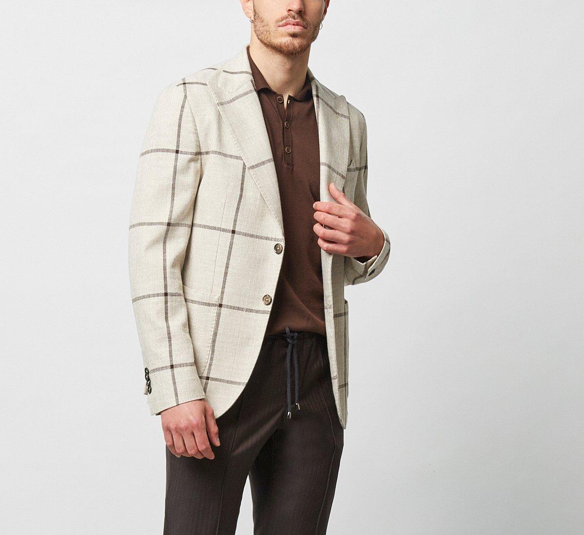 Chequered blazer