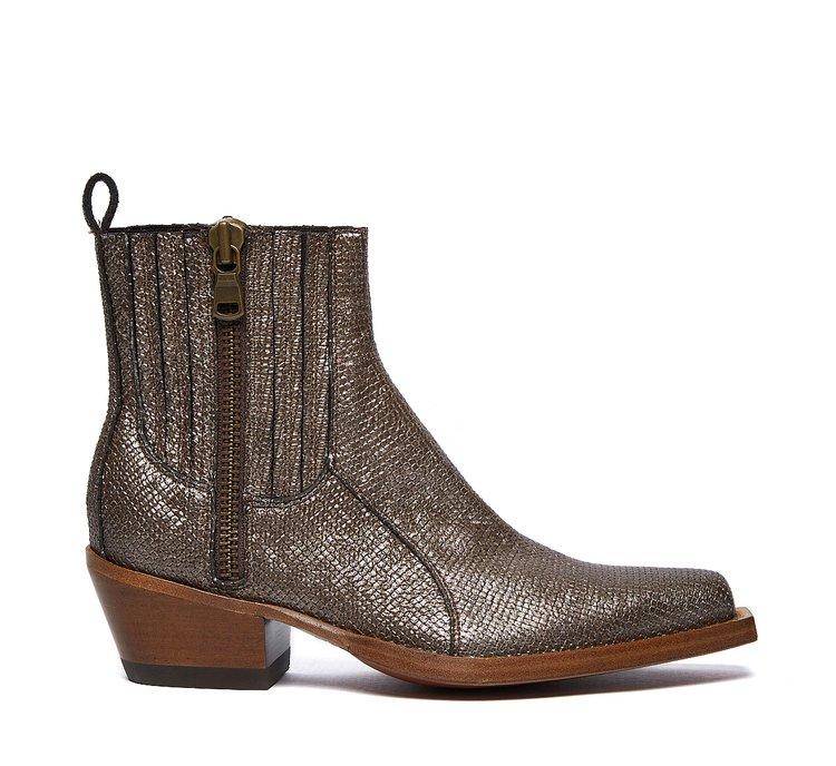 Barracuda calfskin cowboy boots