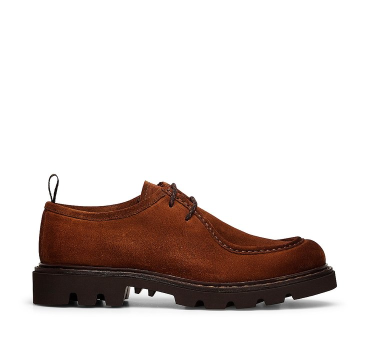 Туфли на шнуровке с двумя отверстиями