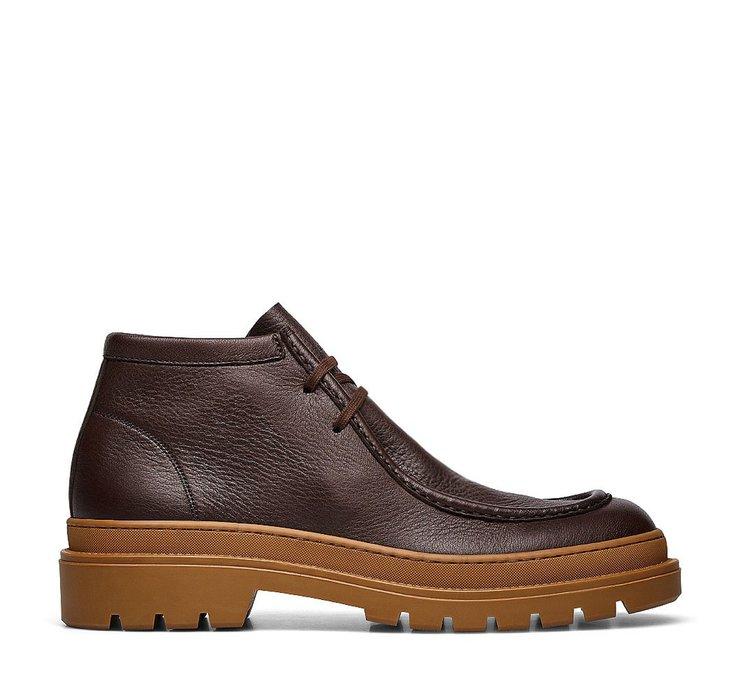 Ботинки-дезерты с двумя отверстиями для шнуровки из телячьей кожи