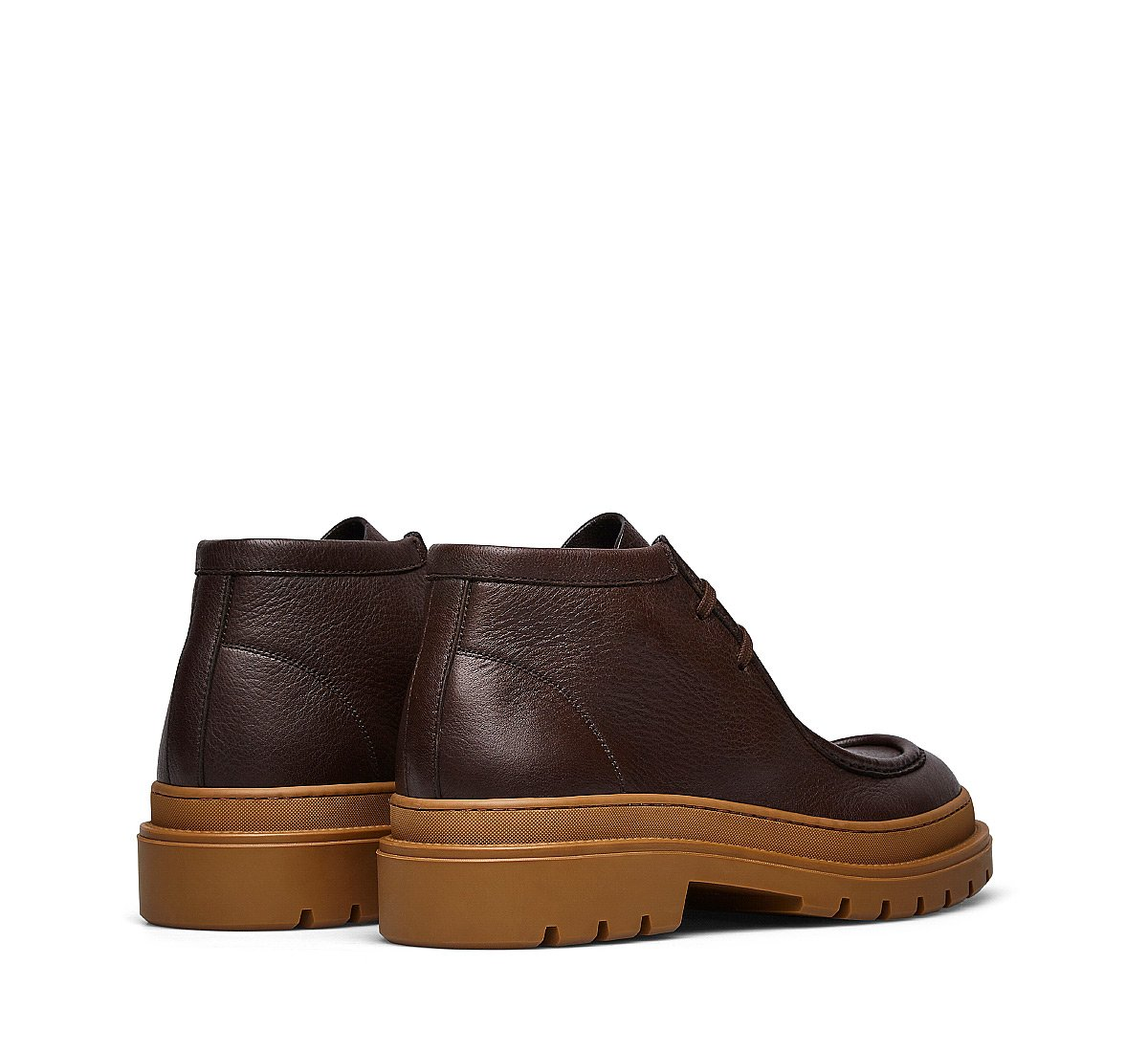 Two-eyelet calfskin desert boots