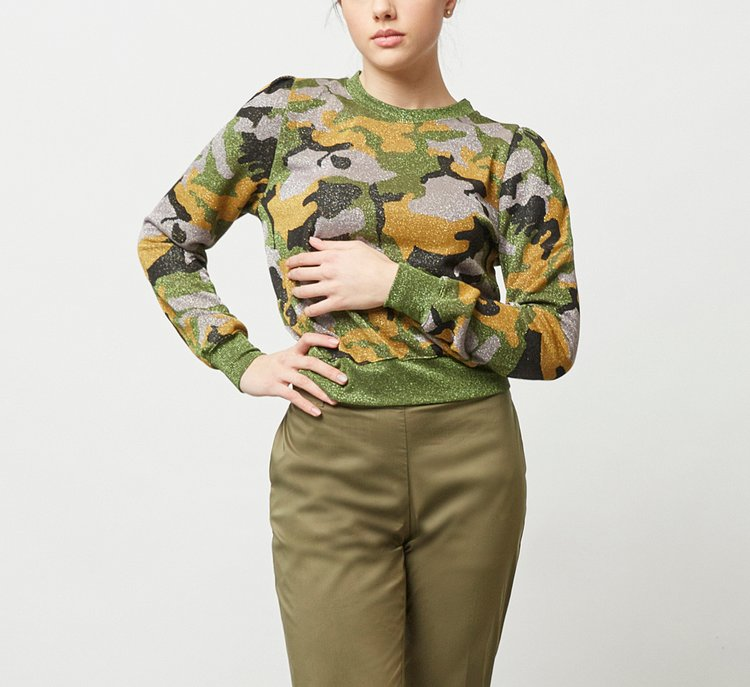 Cropped viscose sweater