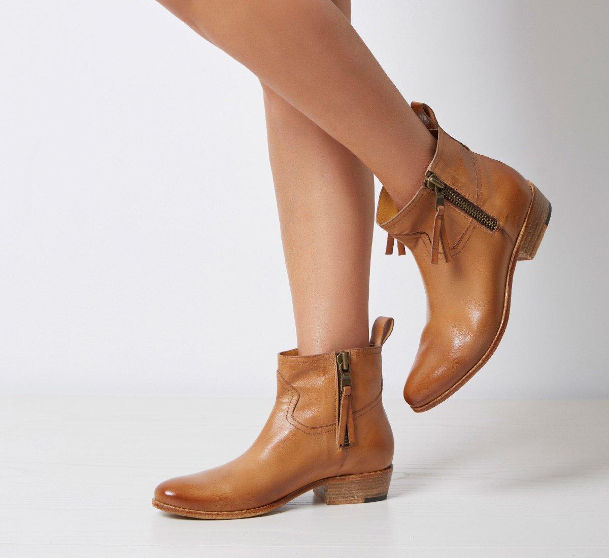 Barracuda cowboy boots in vegetable nappa