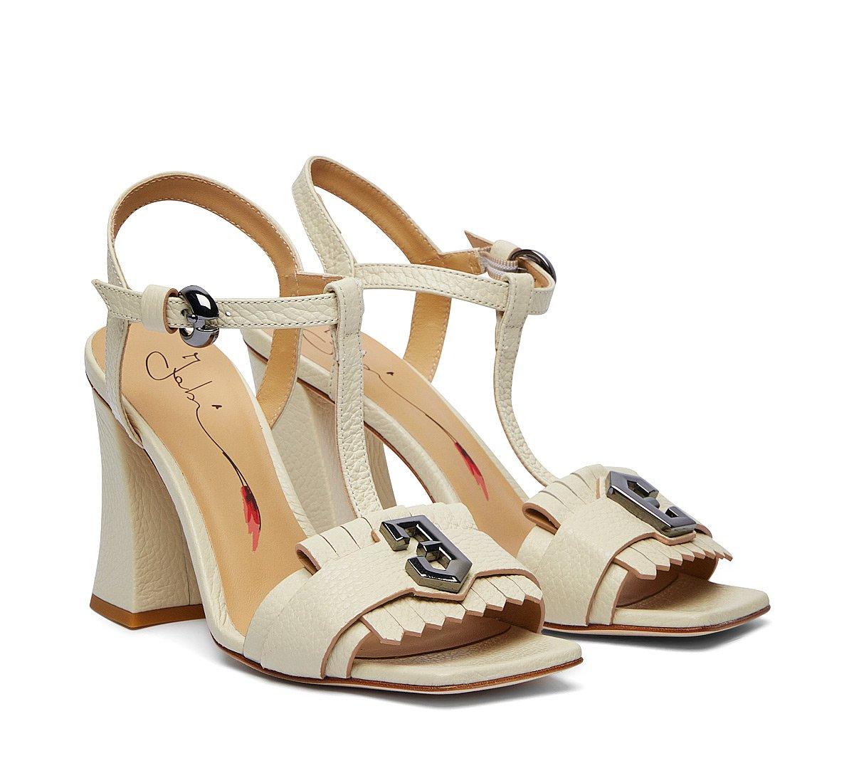 Sandalo in morbido vitello