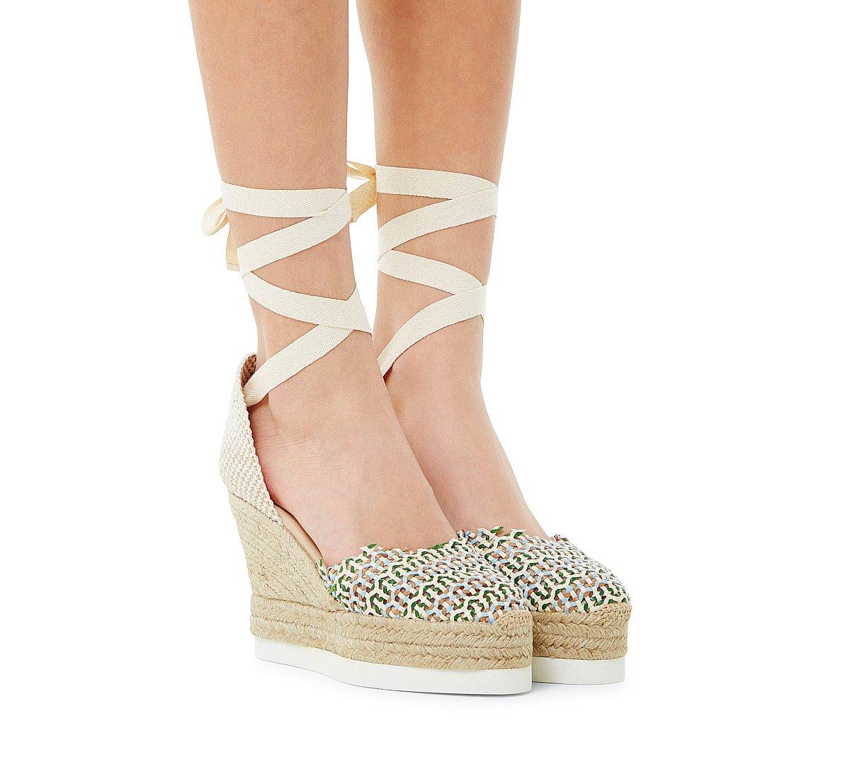 Sandalo in tessuto