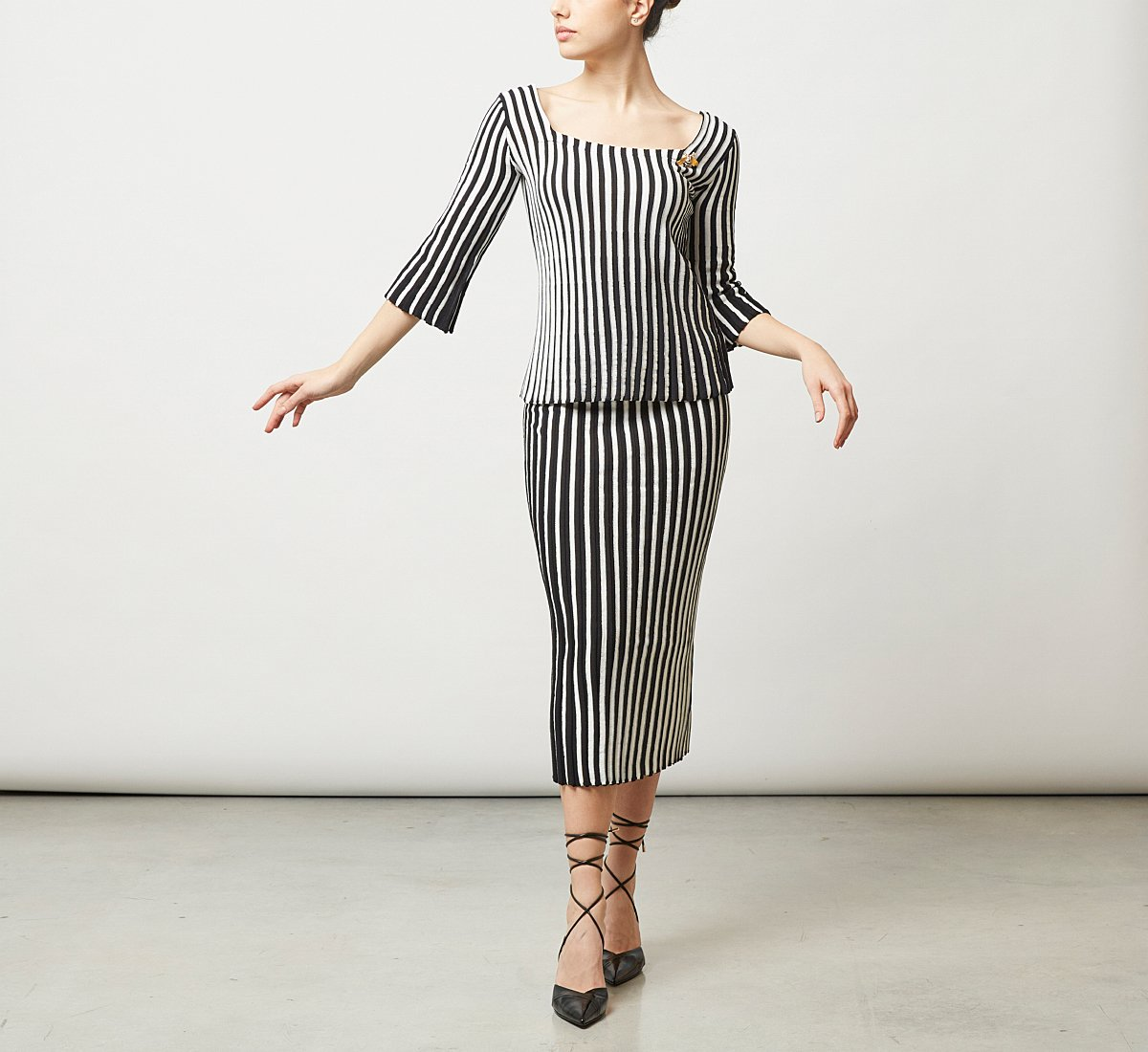Облегающая юбка из трикотажа