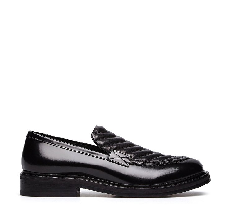 Moccasins in brushed calfskin and nappa