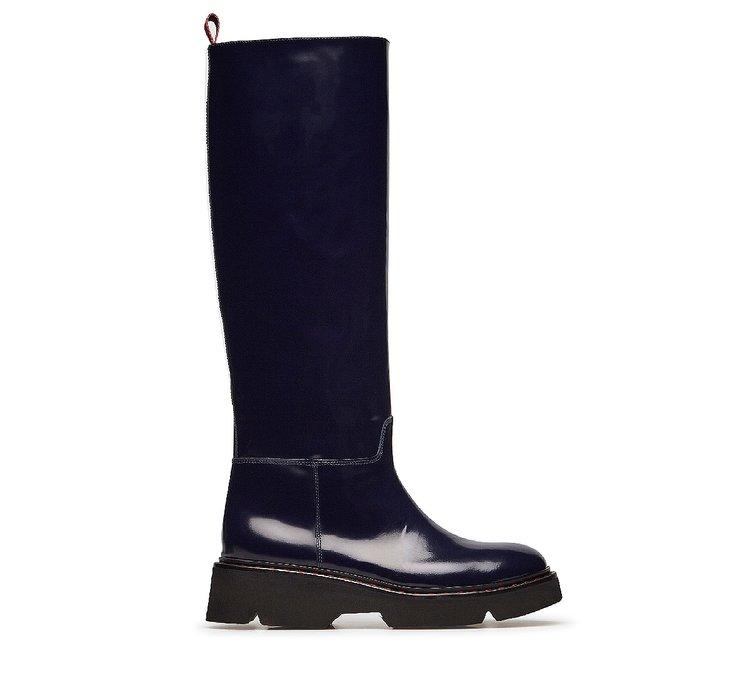 Soft calfskin high boots