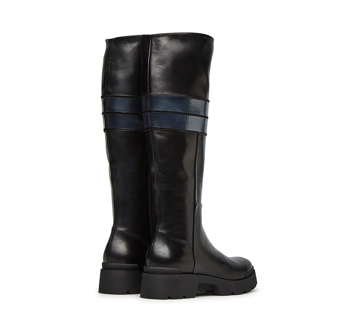 Boots in fine brushed calfskin