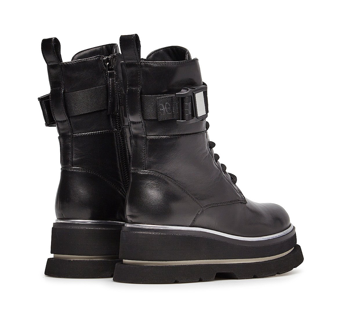Soft nappa leather ankle boots