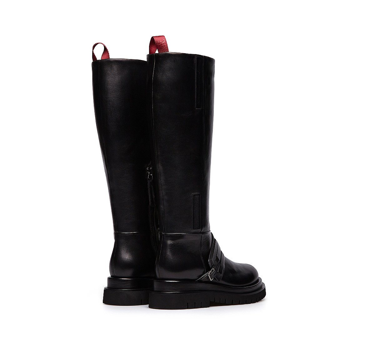 Nappa leather biker boots