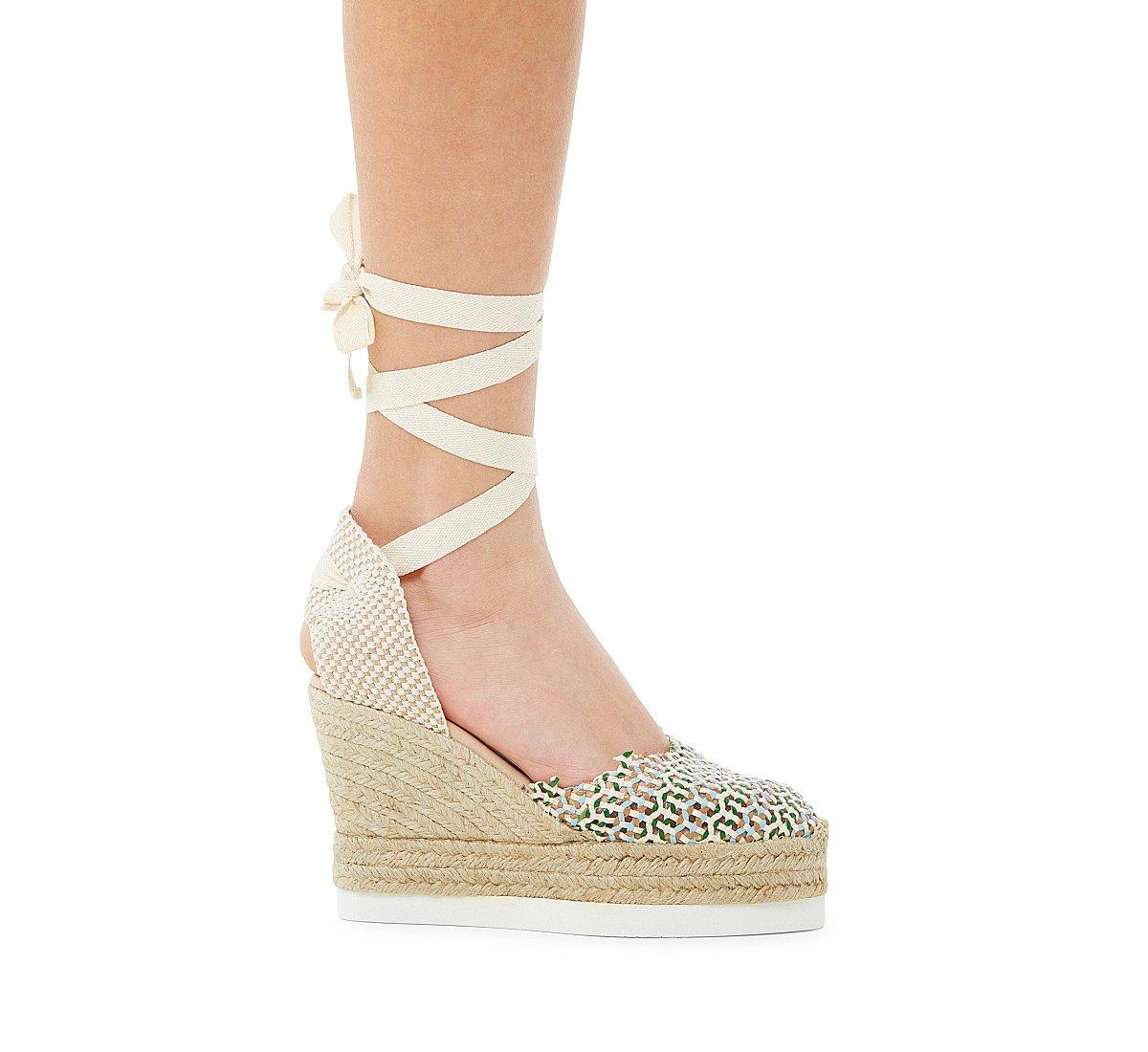 Sandalo in pelle intrecciata