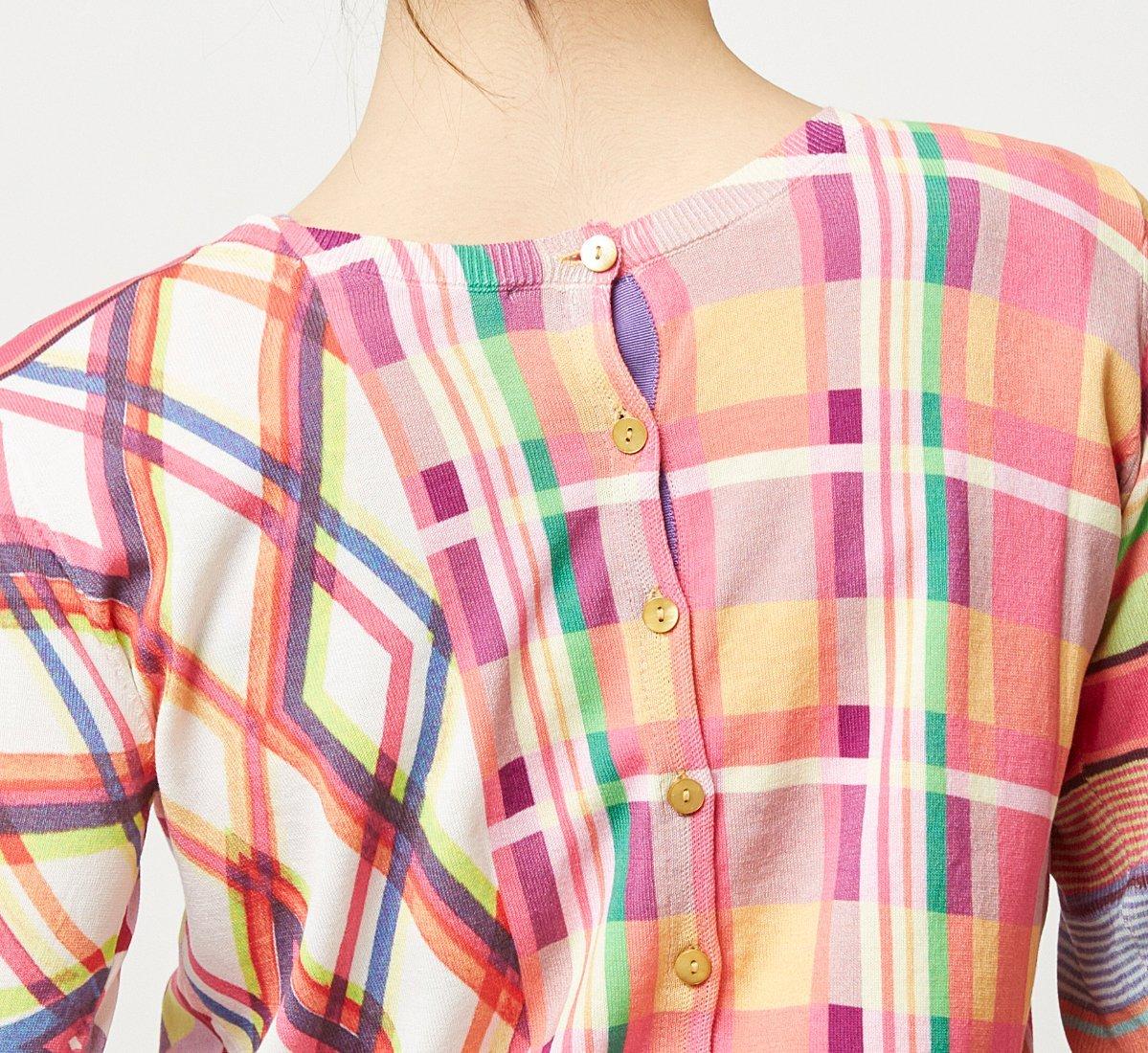 Patterned cardigan and vest set