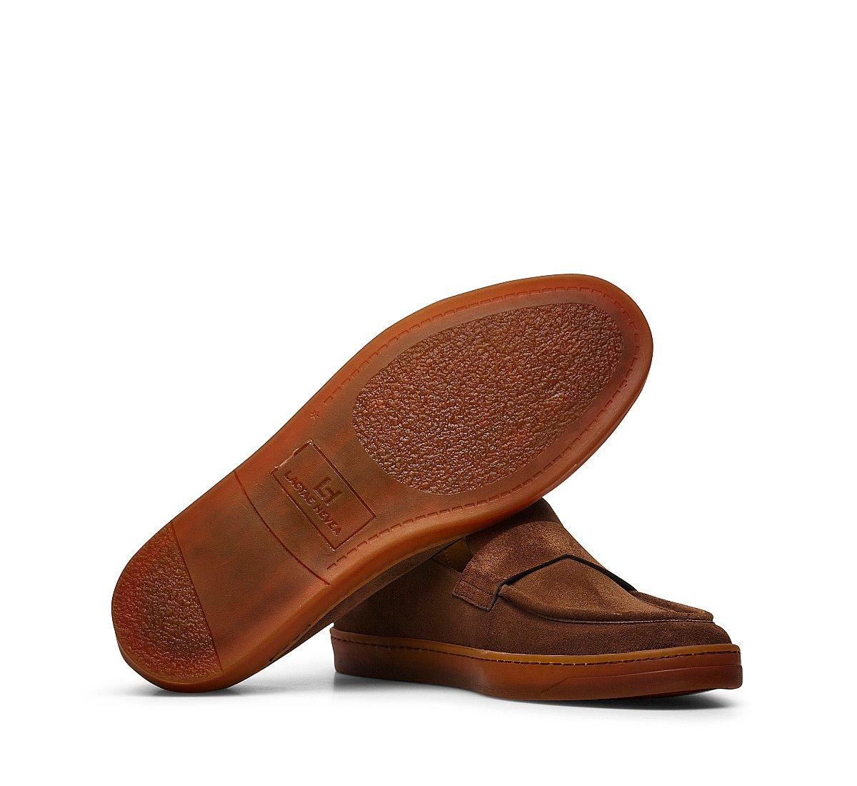Online exclusive - Suede calfskin moccasins