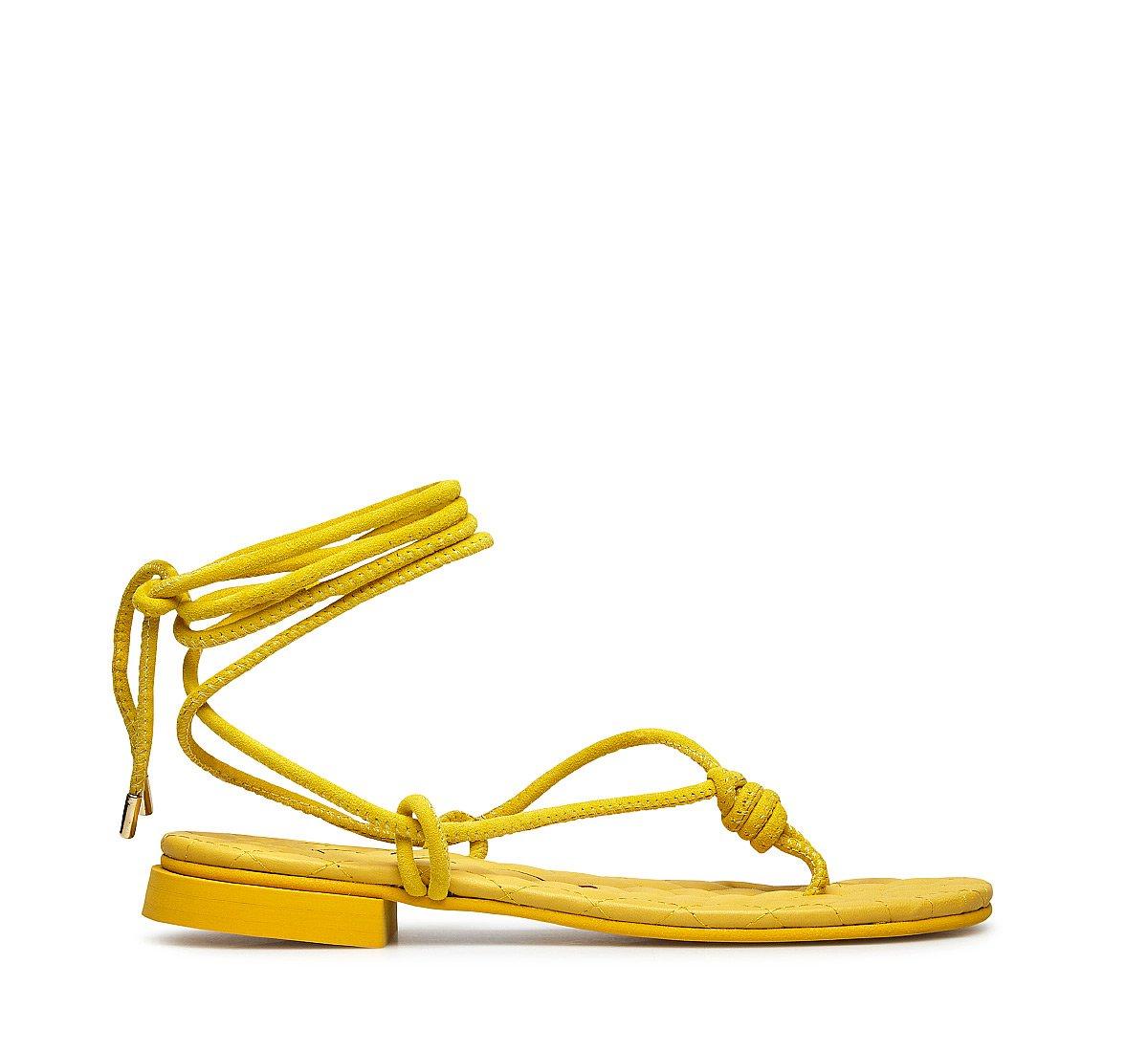 Замшевые сандалии