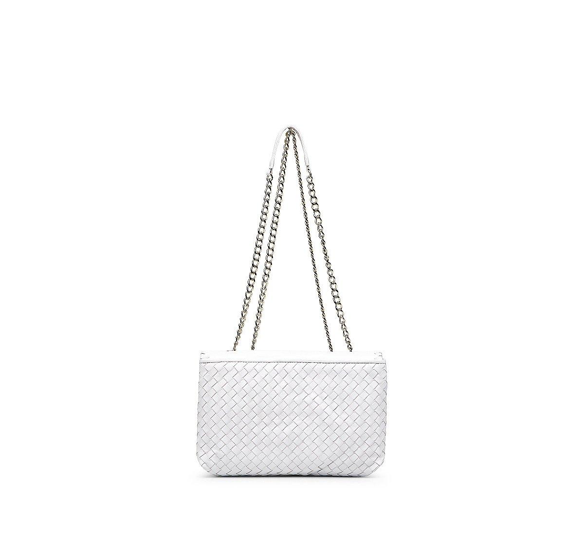 Кожаная сумка с плетением