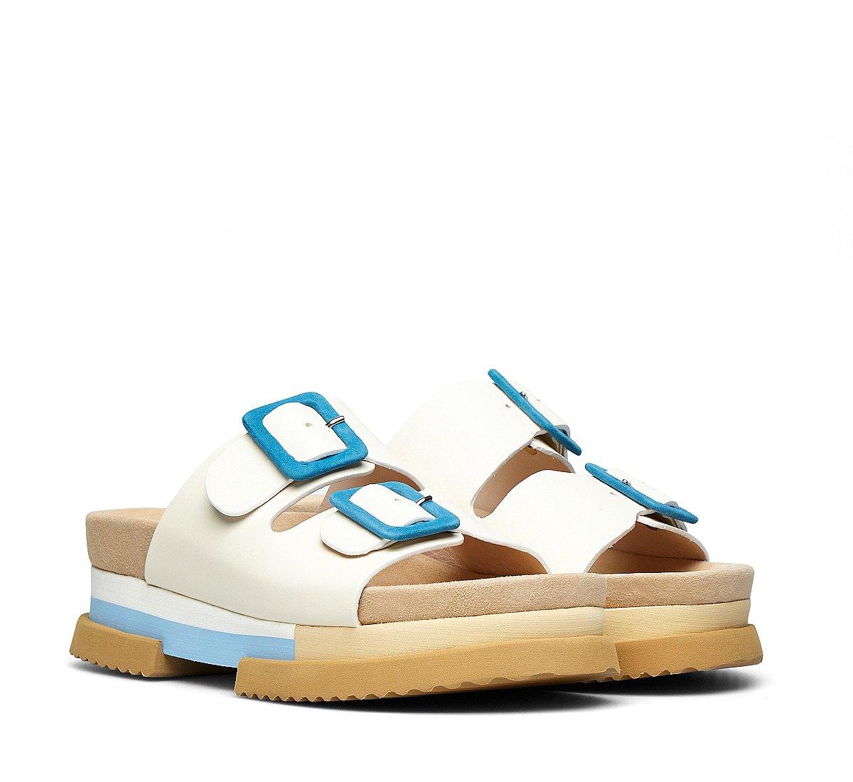 Technical calfskin sandals