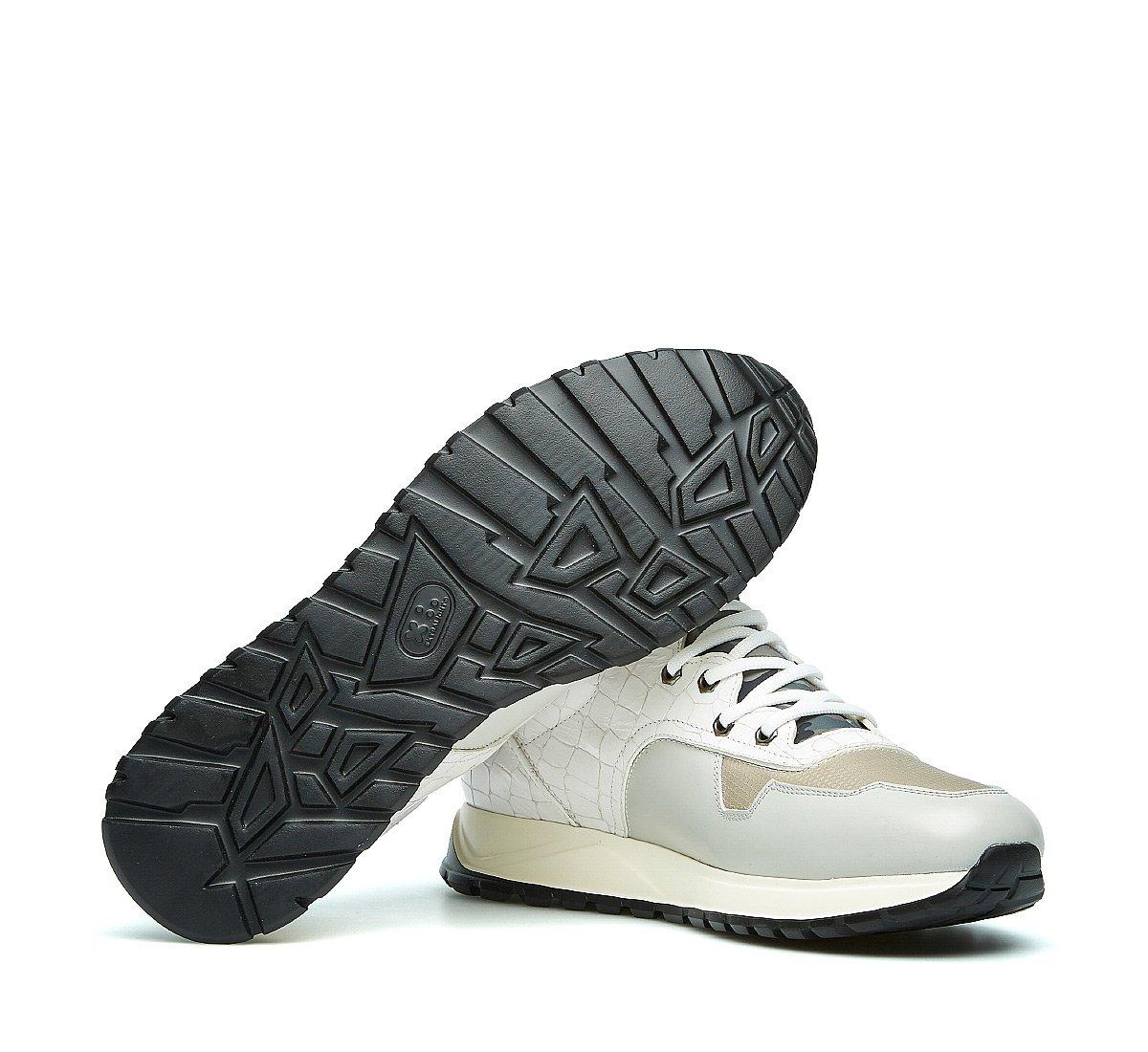 Sneaker Barracuda in vitello e tessuto