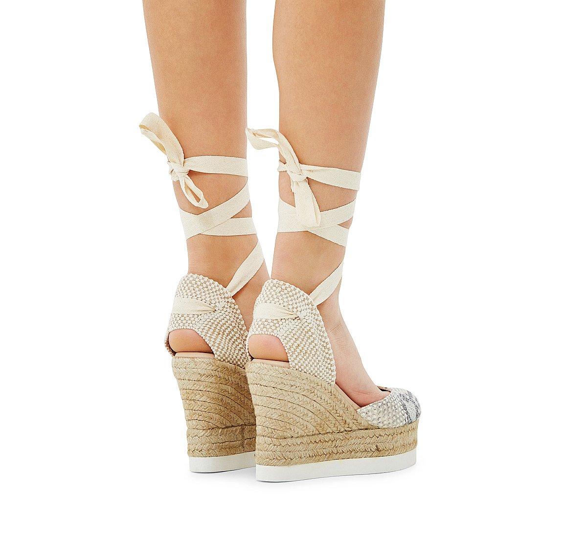 Sandalo in vitello con stampa pitone