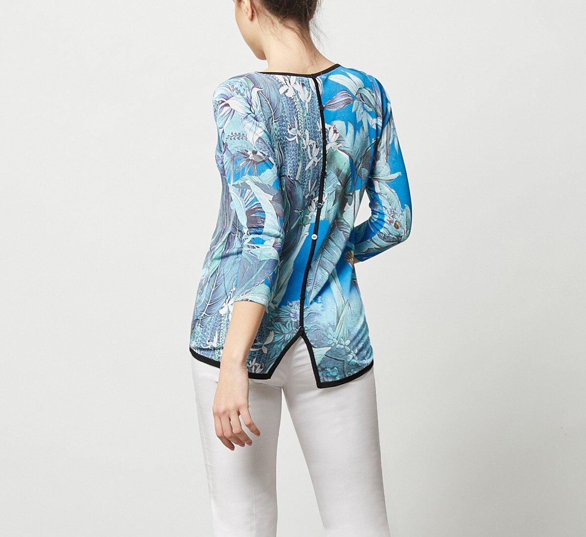 Джемпер из ткани с цветочным принтом