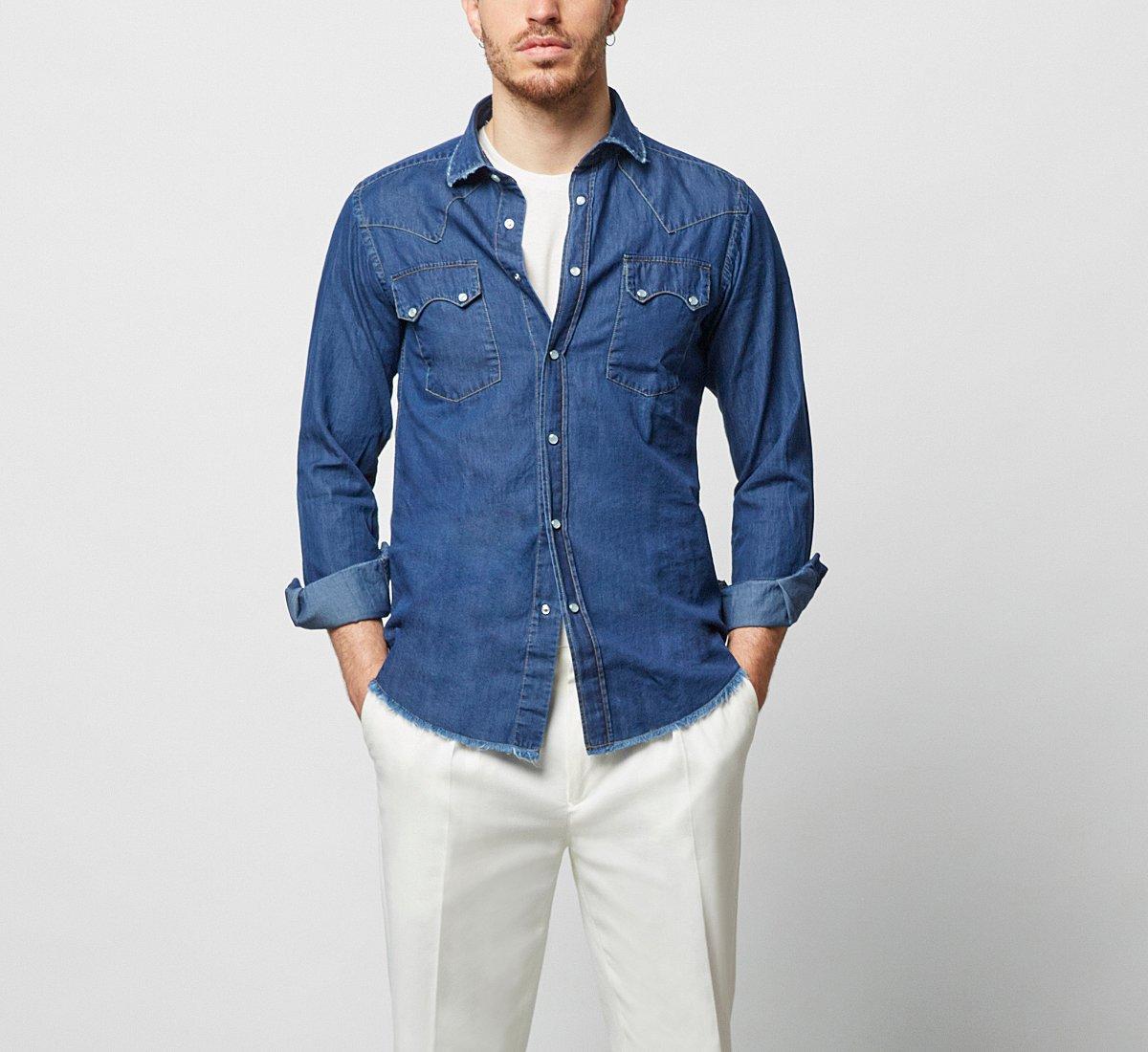 Cotton denim shirt