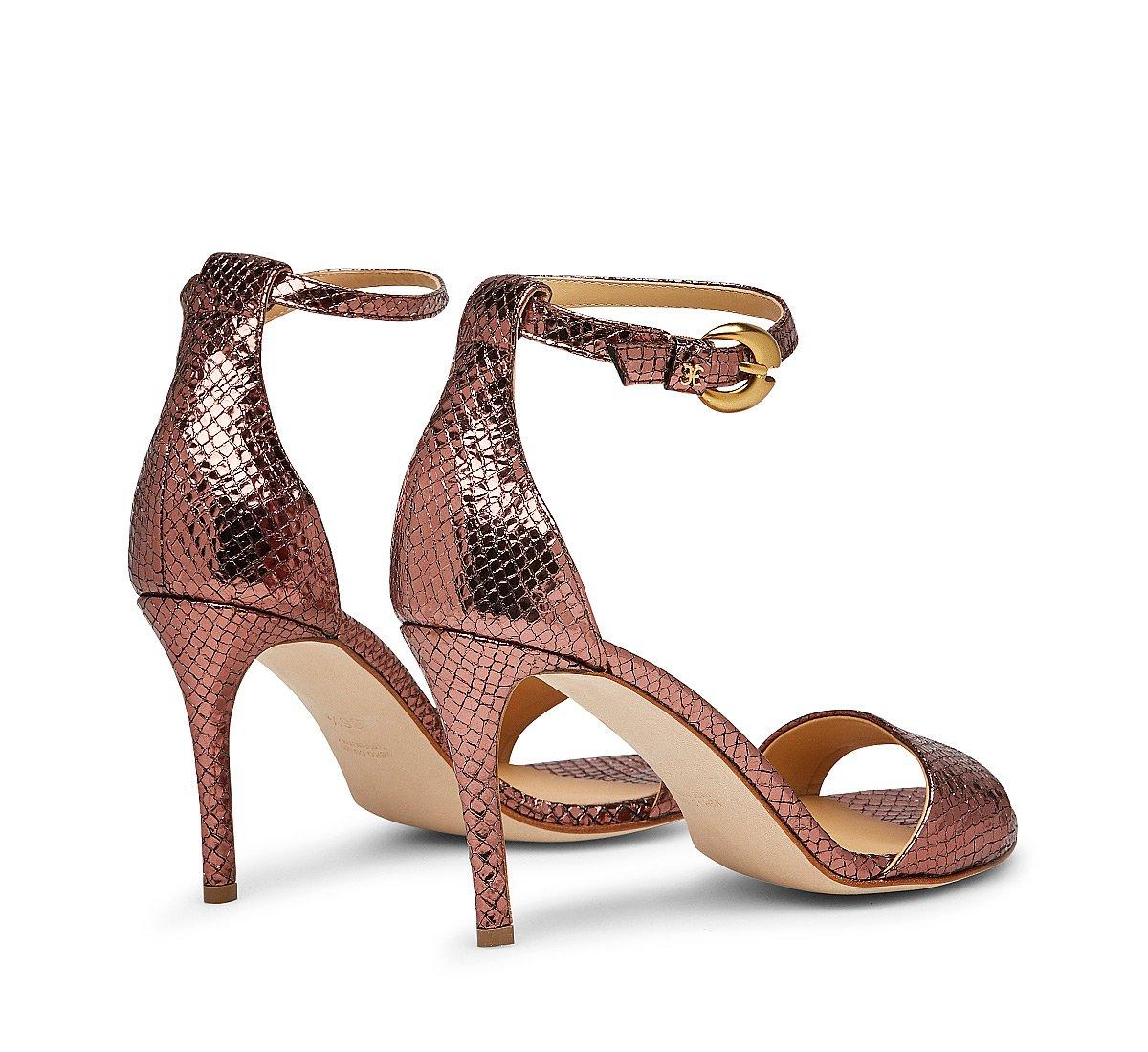 Printed calfskin sandals