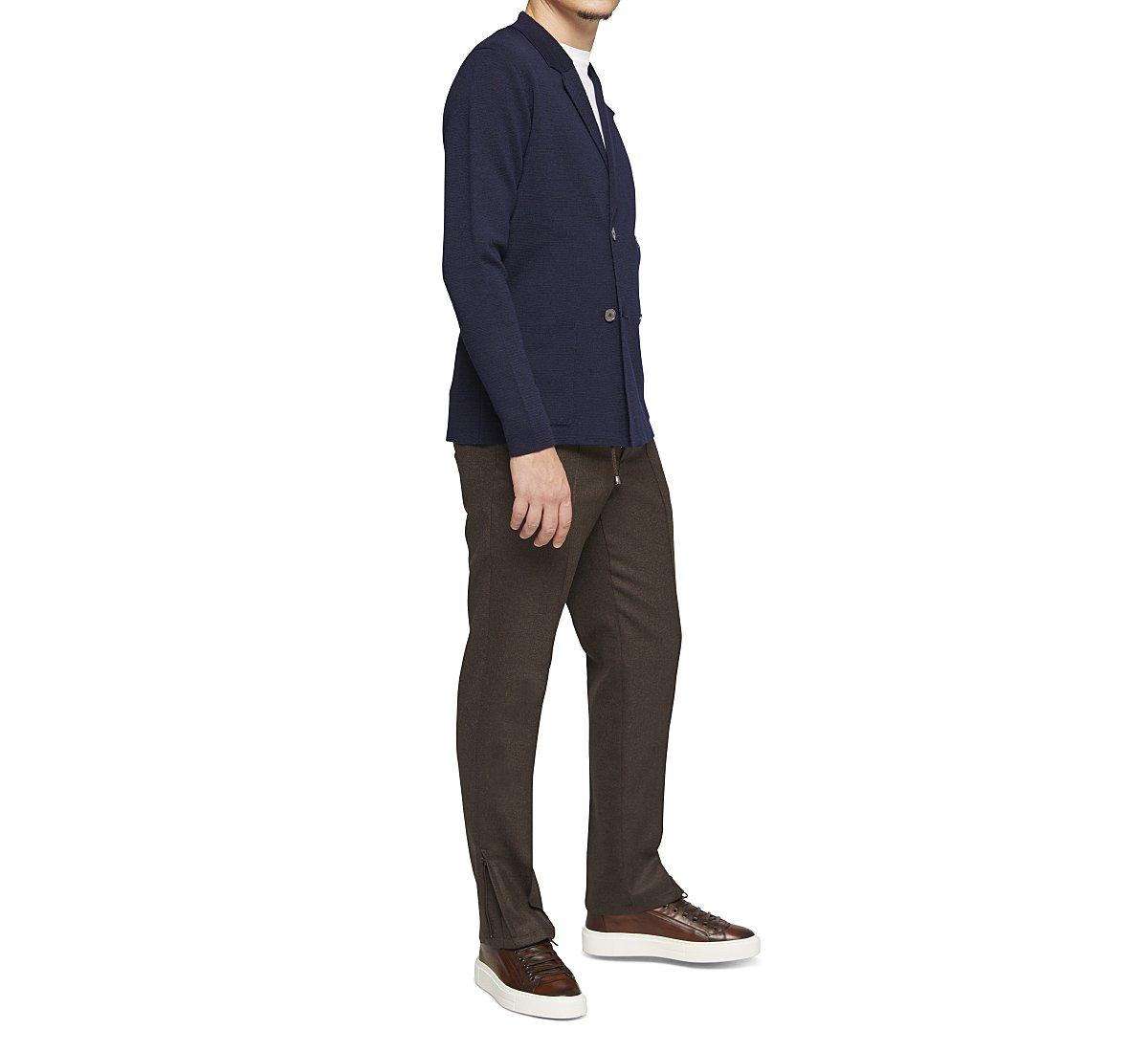 Pantaloni carrot fit in lana