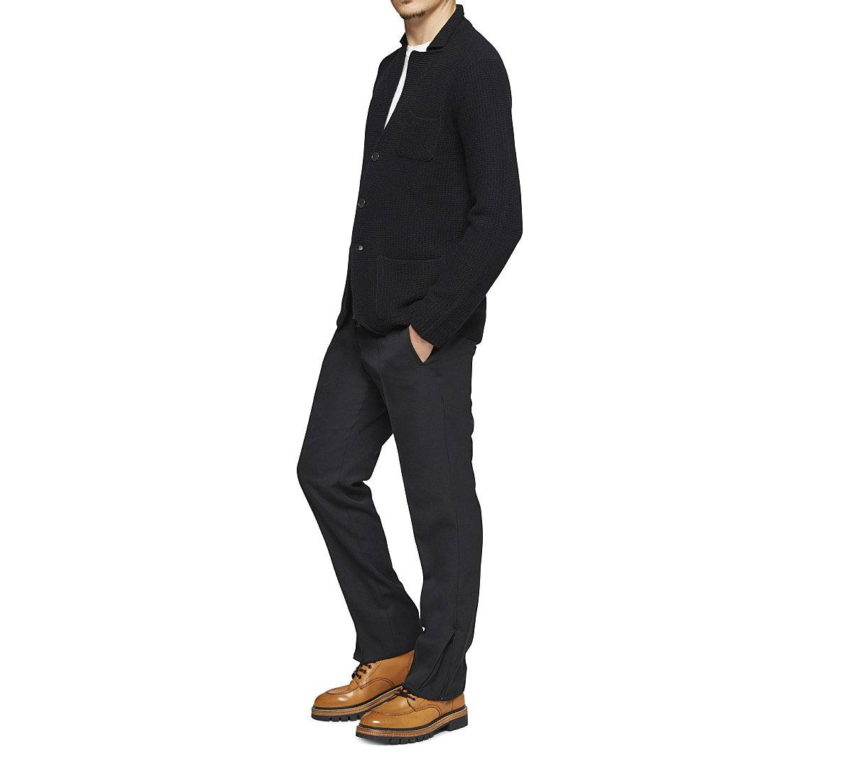 Cardigan stile blazer in lana