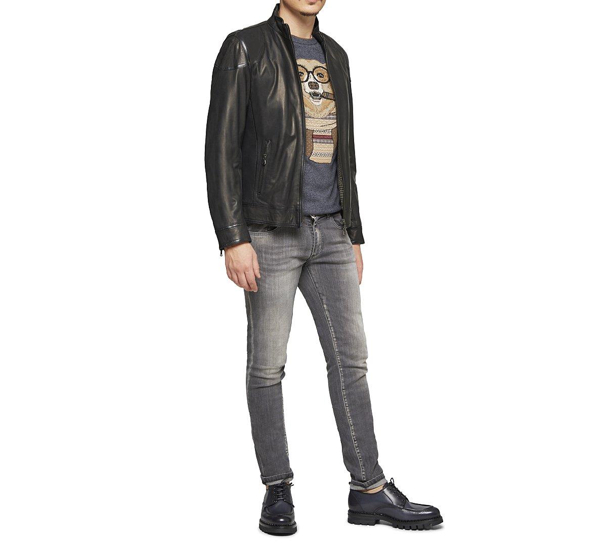Soft leather jacket.
