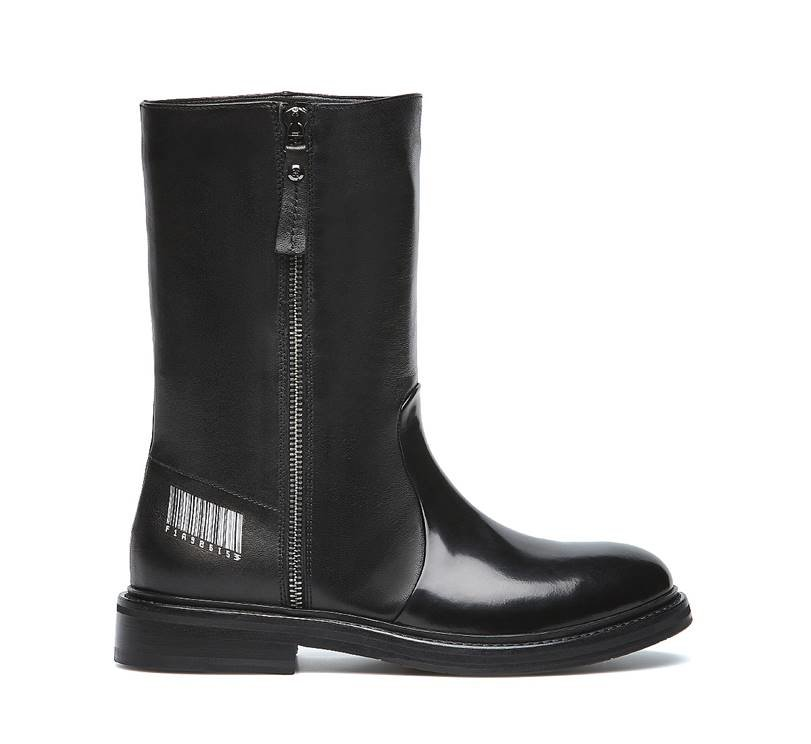 Soft nappa leather boots