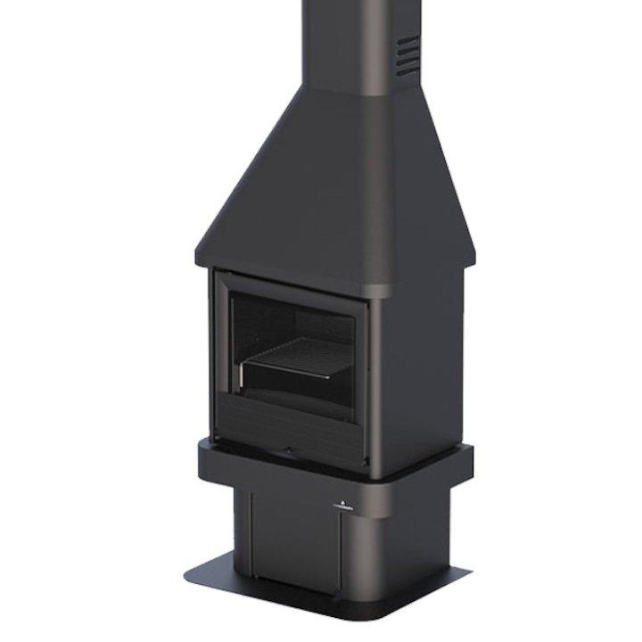 Bronpi Brasil Mural Wood Fireplace - Black