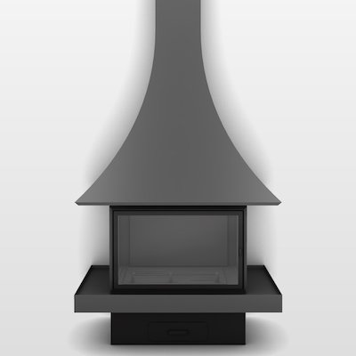 JC Bordelet Julietta 985 Mural Wood Fireplace