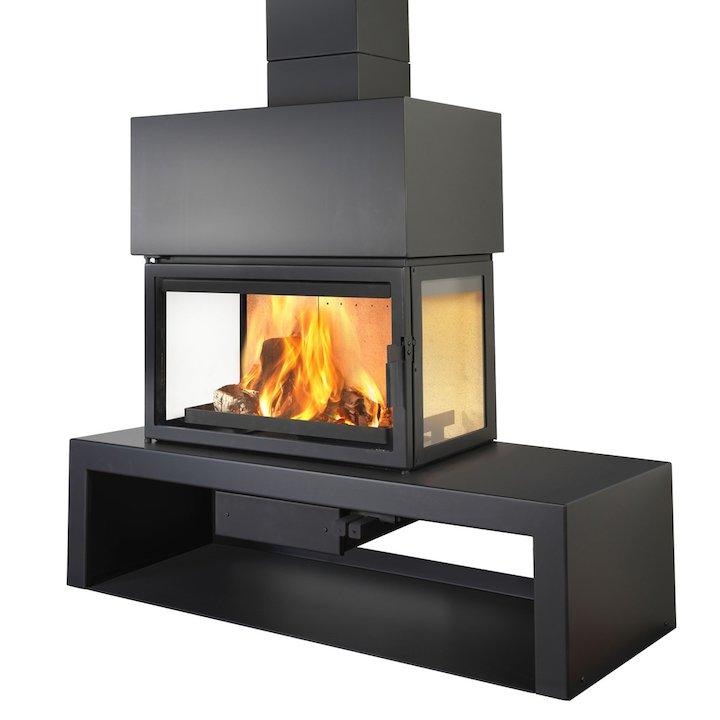LL Calor 15DE Mural Wood Fireplace