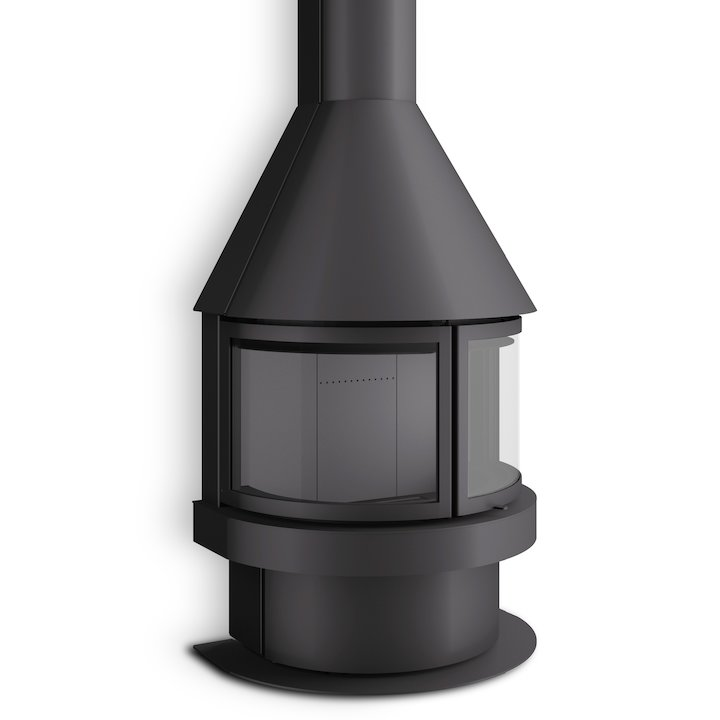 Rocal Aitana Mural Wood Fireplace - Black